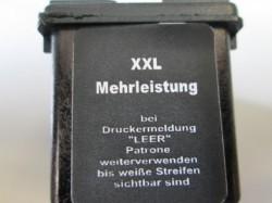 Der Hinweis auf der HP 301XXL-Patrone