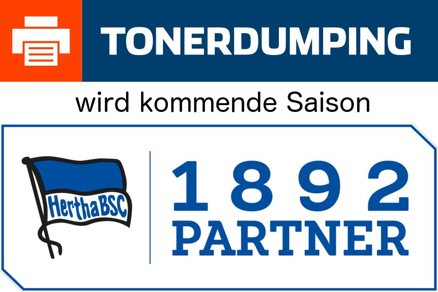 TONERDUMPING wird 1892-Partner von Hertha BSC