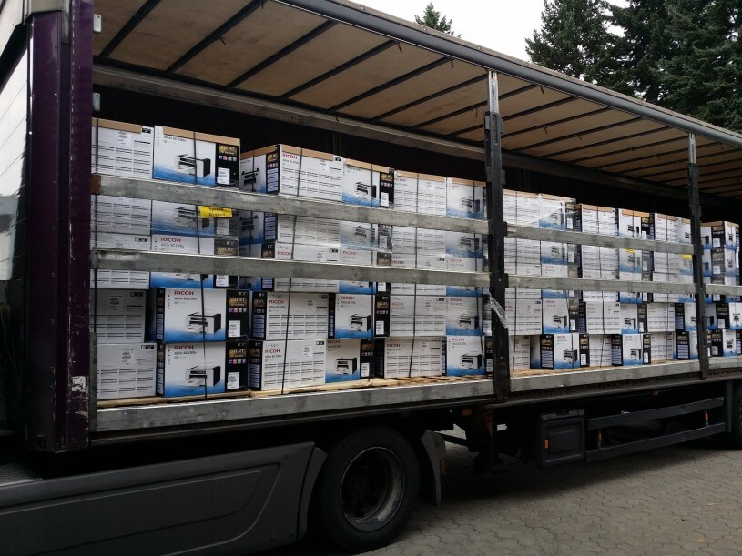 200 GelJet-Drucker angekommen.