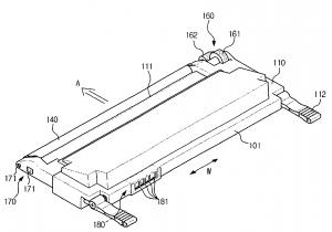 Eine Abbildung aus dem Patent für den Samsung CLP-310
