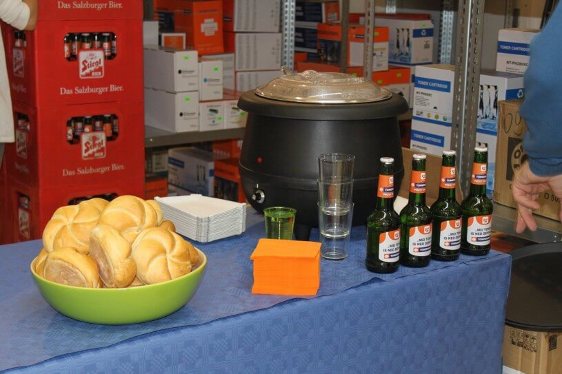Bier, Wurschteln und Semmerln sorgen für eine entspannte Atmosphäre