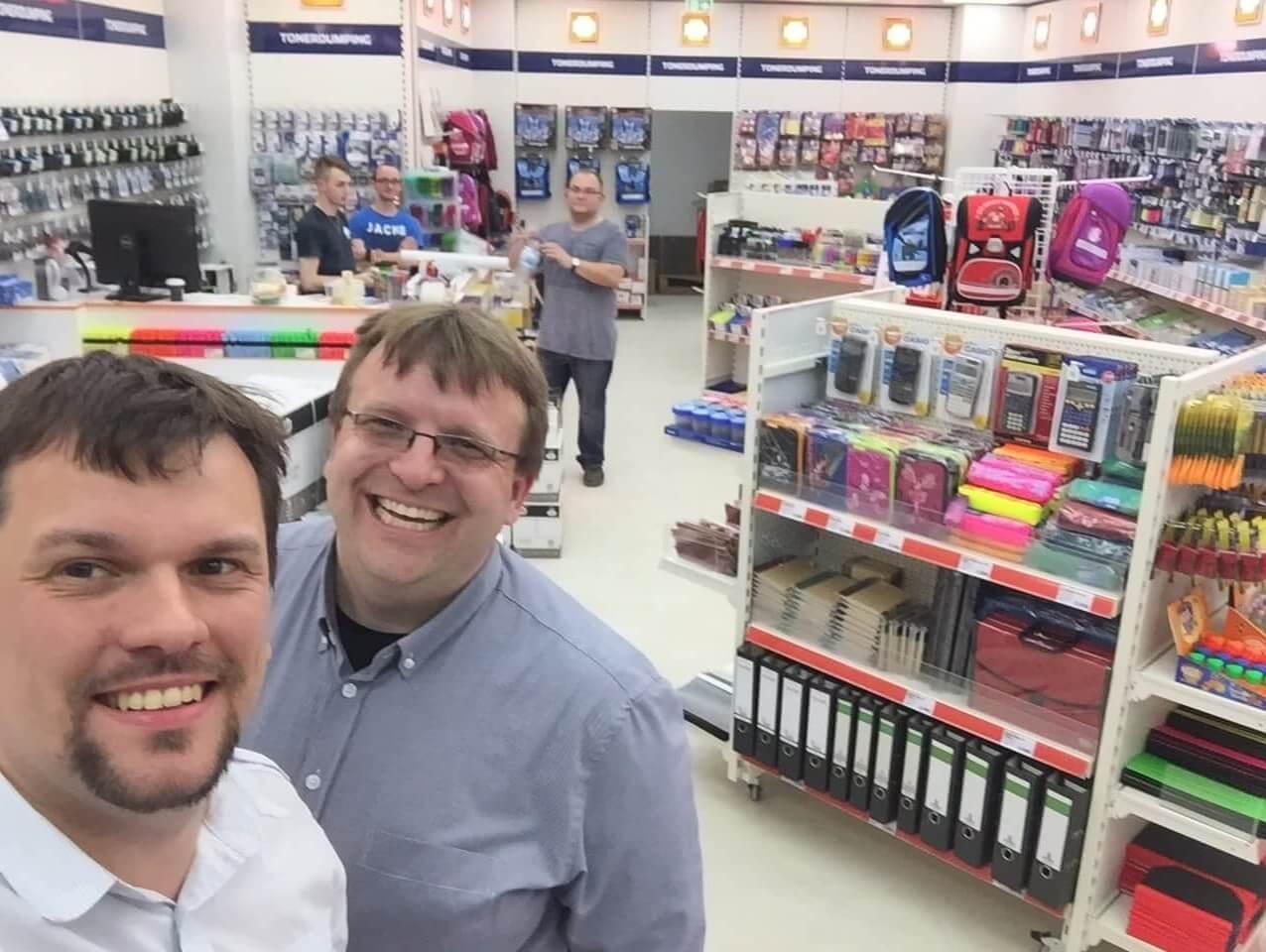Und noch ein Selfie vom Gesundbrunnen-Laden