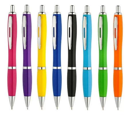 Neue bunte Kugelschreiber für 49 Cent.