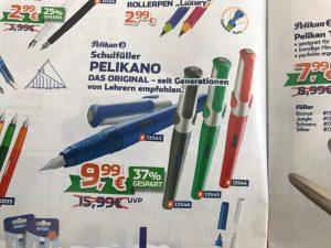 Für nur 9,99 € gibt es den Pelikano Füller von Pelikan (statt 15,99 € UVP).