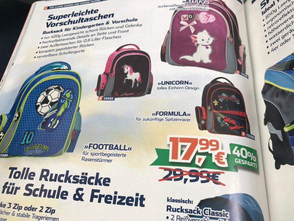 Tolle Kindergarten-Rucksäcke für 17,99 (statt bisher 29,99)