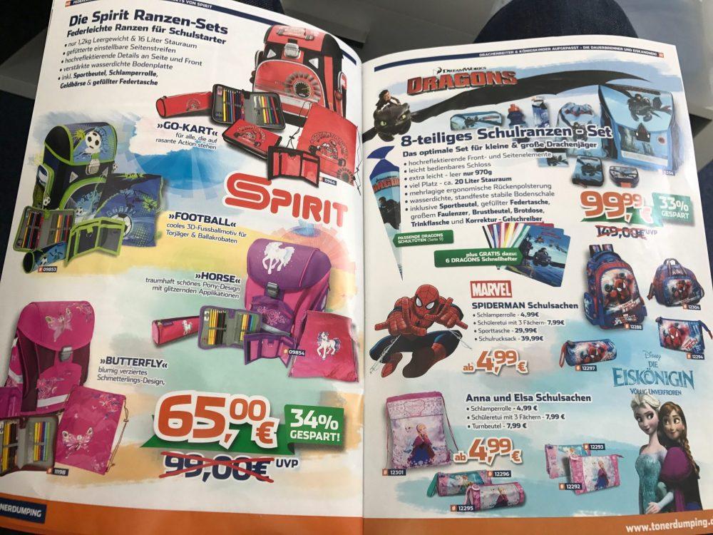 Noch billiger: Schulranzen von SPIRIT oder Dragons