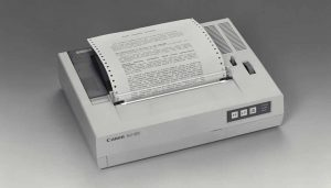 Der erste Tintenstrahldrucker für das Büro: Der Canon BJ80