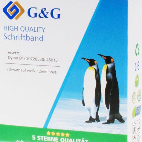 Die Pinguine Gustav und Gloria verschönern mit Ihrer anmutigen Erscheinung die Schriftbänder von G+G