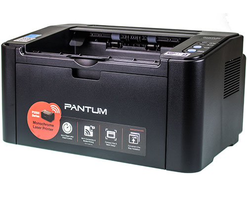 Superkompakt: Der Pantum P2500W. Laserdruckertechnologie made in China.