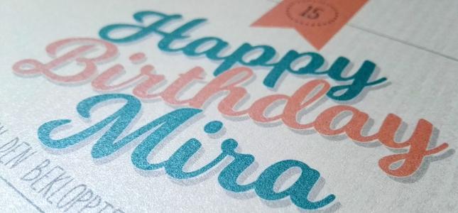 Geburtstagskarte zum drucken