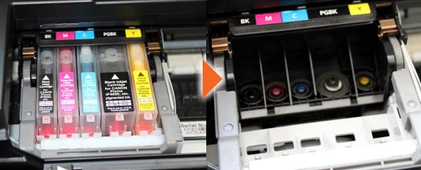 druckkopf beim tintenstrahldrucker reinigen