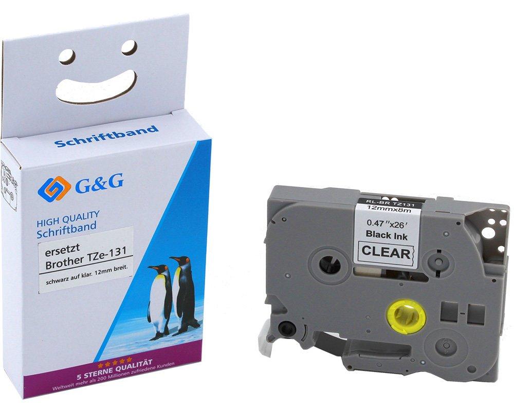 2 Schriftbänder kompatibel mit Brother TZE-131 P-Touch 1280 2430PC 2730VP 3600 9