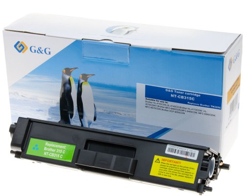 G&G Premium-Toner kompatibel zu Brother TN-325C cyan
