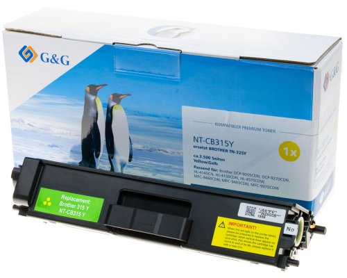 G&G Premium-Toner kompatibel zu Brother TN-325Y gelb