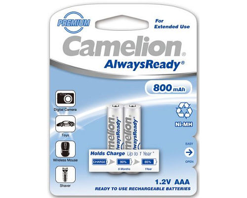 2 Camelion Always-ready-to-use Akkus AAA Ni-Mh 800 mAh