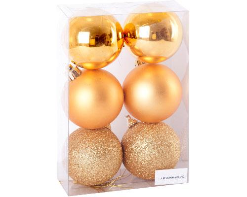 Goldene Weihnachtskugeln.6 Goldene Weihnachtskugeln