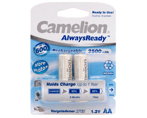 2 Camelion Always-ready-to-use Akkus AA Ni-Mh 2.500 mAh