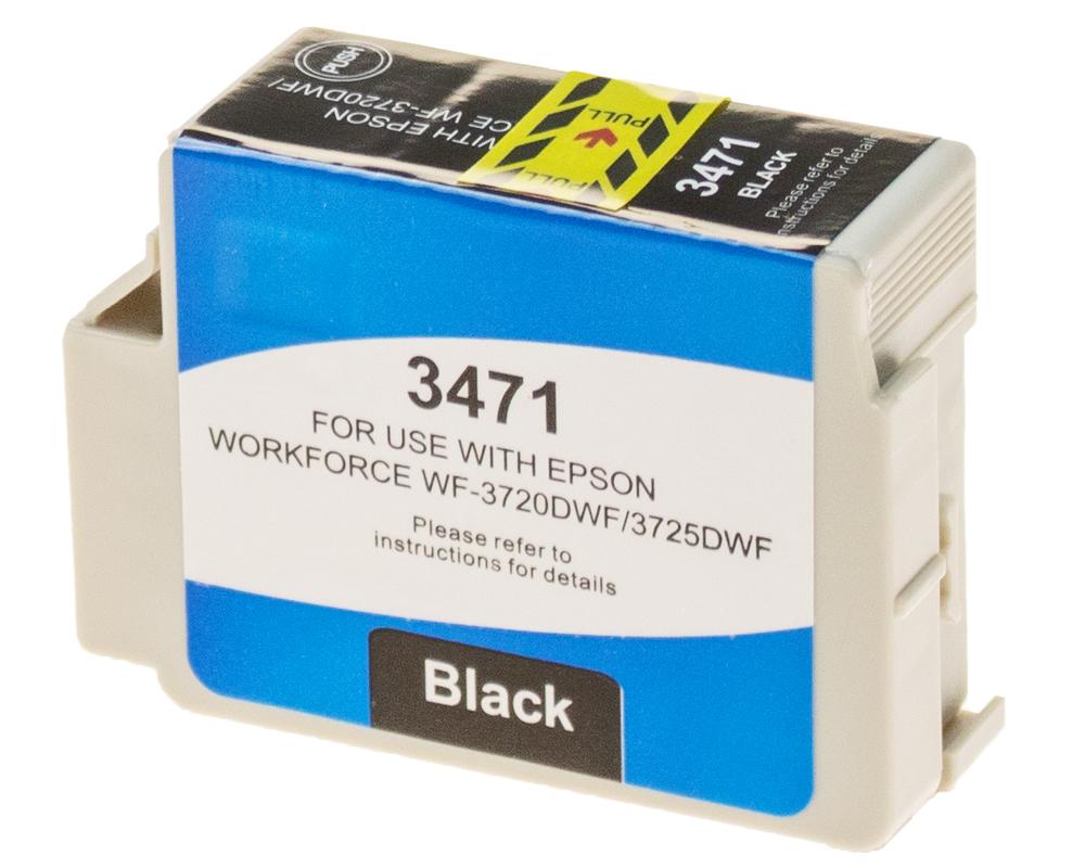 2 X Schwarz Tintenpatronen Nicht-Oem Alternative für Epson 34XL T3471