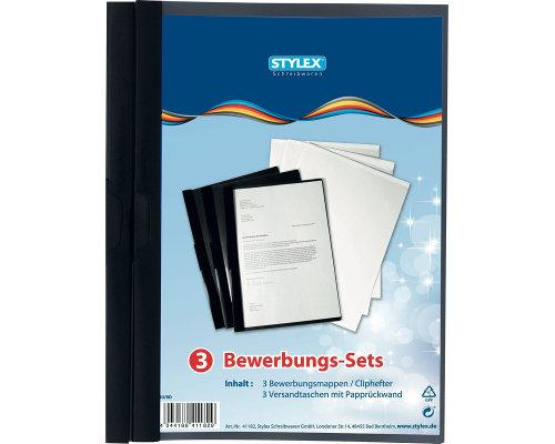 Bewerbungsset 3 Bewerbungsmappen 3 Versandtaschen B4 Mit Papprückwand